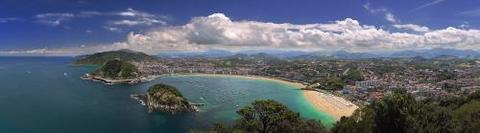 The city of Donostia from top of mount Igeldo.