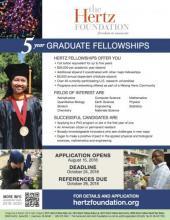 Hertz Graduate Fellowship